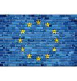 Flag of Europe on a brick wall vector image vector image