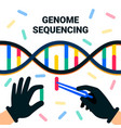 genome sequencing concept nanotechnology and vector image