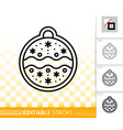 gingerbread cookie simple black line icon vector image
