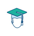 graduated man icon vector image vector image