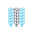 grain growing linear icon concept grain growing vector image vector image