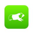 hamster icon digital green vector image
