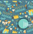 happy birthday seamless pattern vector image vector image