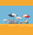 hot summer vacation background vector image vector image