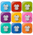 Icons with t-shirts vector image