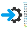 Integration Flat Icon with Bonus vector image