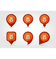 Lama flat pin map icon Animal head symbol vector image vector image