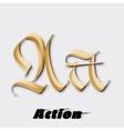 Letter A sticker insignia vector image