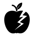 lightning apple icon simple black style vector image vector image