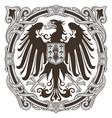medieval heraldic emblem design heraldic eagle vector image vector image
