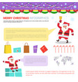 merry christmas infographic elements set vector image