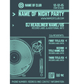 minimal design night party flyer template vector image