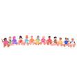 mix race little children sitting together kids vector image