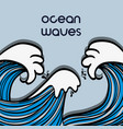 natural ocean waves with shapes design vector image vector image