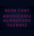 neon red font vector image