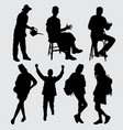 people activity silhouette vector image vector image