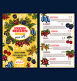 price with fresh berries vector image