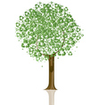 recycling sign tree vector image vector image