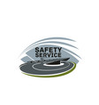 road safety service isolated icon template vector image vector image