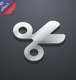 Scissors hairdresser Tailor icon symbol 3D style vector image