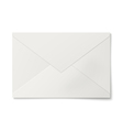 Sealed white envelope isolated on white background vector image