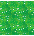 seamless pattern tropical palm leaves vector image vector image