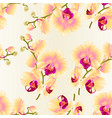 seamless texture branch orchids yellow flowers vector image vector image