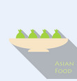 set of asian food bibimbap gedza ramen and sushi vector image