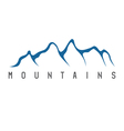 simple of the abstract mountains vector image vector image