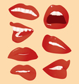 smile and lips vector image vector image