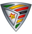 steel shield zimbabwe vector image vector image