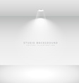 studio background with spot light vector image vector image