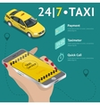 Taxi service Taxi mobile app template set vector image