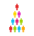 Team Colorful Simple Icons vector image vector image