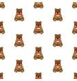 teddy bear baby seamless vector image vector image