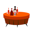 The bottles on the table vector image vector image