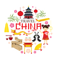 Travel China Icons Label vector image vector image