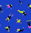 tricks on skateboard background vector image