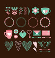 valentines day cute set vector image vector image