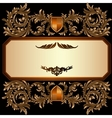 Vintage frame with heraldic detailed golden floral vector image vector image