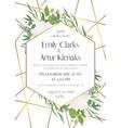 wedding invite save date card modern design vector image vector image