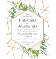 wedding invite save the date card modern design vector image