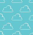 White clouds seamless pattern vector image vector image