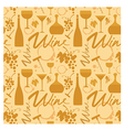 white wine pattern vector image