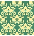 Yellow on green seamless floral pattern vector image vector image