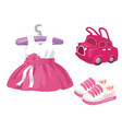 baby girl set - for design and scrapbook vector image