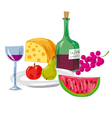 fruits and wine vector image