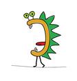 funny cartoon animal color vector image