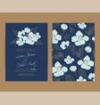 wedding invitation floral background vector image
