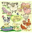 Farm animals hand drawn collection part 2 vector image